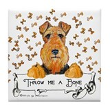 Lakeland Terrier Bone Tile Coaster