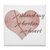 Mend My Heart by Leah Tile Coaster