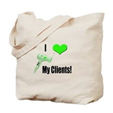 I Love (Heart) My Clients (Gr Tote Bag