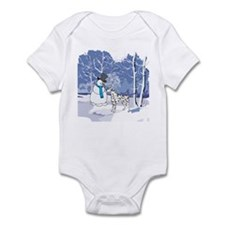 Snowman & Dalmatian Holiday Infant Bodysuit