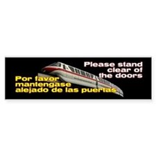 Monorail Red Bumper Bumper Sticker