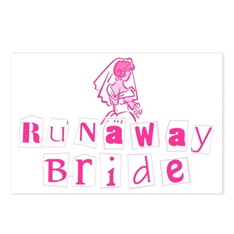 Runaway Bride Postcards (Package of 8)