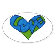 Heart Full of Love Oval Decal