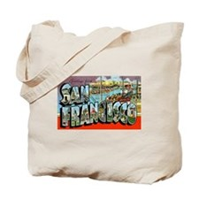San Francisco California Greetings Tote Bag
