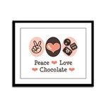 Peace Love Chocolate Framed Panel Print