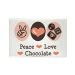 Peace Love Chocolate Rectangle Magnet (10 pack)