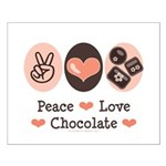 Peace Love Chocolate Small Poster