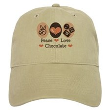 Peace Love Chocolate Baseball Cap
