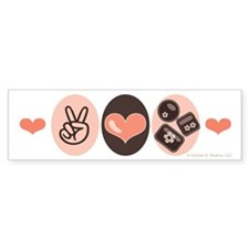 Peace Love Chocolate Bumper Bumper Sticker