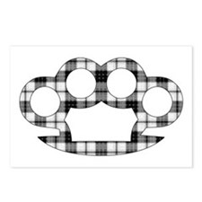 Plaid Brass Knuckles Postcards (Package of 8)