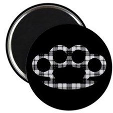 Plaid Brass Knuckles Magnet