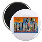 San Francisco California Greetings Magnet