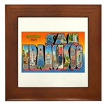 San Francisco California Greetings Framed Tile