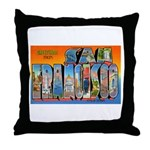 San Francisco California Greetings Throw Pillow