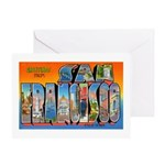 San Francisco California Greetings Greeting Card