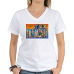 San Francisco California Greetings Women's V-Neck