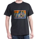 San Francisco California Greetings (Front) Dark T-