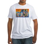 San Francisco California Greetings Fitted T-Shirt
