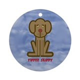 Yippee Dog Ornament (Round)