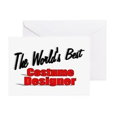 """The World's Best Costume Designer"" Greeting Cards"
