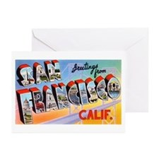 San Francisco California Greetings Greeting Cards
