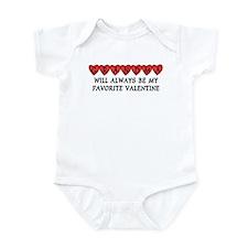 Grandma Favorite Valentine  Infant Bodysuit