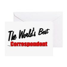 """""""The World's Best Correspondent"""" Greeting Card"""