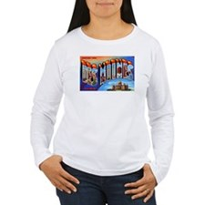 Des Moines Iowa Greetings (Front) T-Shirt