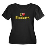 I Love Elisabeth (L) Women's Plus Size Scoop Neck