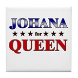 JOHANA for queen Tile Coaster