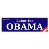 Labor for Obama Bumper Bumper Sticker