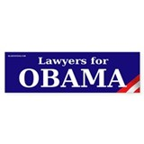Lawyers for Obama Bumper Car Sticker
