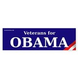 Veterans for Obama Bumper Bumper Sticker