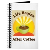 Life begins after coffee Journal