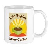 Life begins after coffee Small Mug