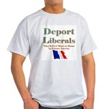 Deport Liberals Ash Grey T-Shirt