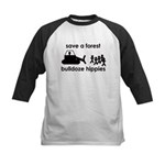 Save A Forest, Bulldoze Hippi Kids Baseball Jersey