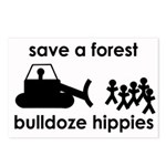 Save A Forest, Bulldoze Hippi Postcards (Package o