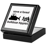 Save A Forest, Bulldoze Hippi Keepsake Box