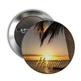"Waikiki Hawaii Sunset 2.25"" Button (10 pack)"