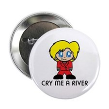 "Hillary Clinton Crying 2.25"" Button"