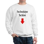 Free Breathalyzer Test Below Sweatshirt