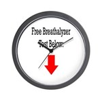 Free Breathalyzer Test Below Wall Clock