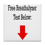 Free Breathalyzer Test Below Tile Coaster
