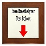 Free Breathalyzer Test Below Framed Tile