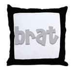 brat Throw Pillow
