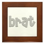 brat Framed Tile
