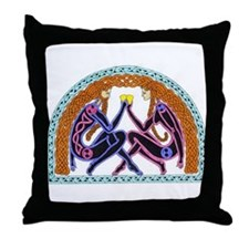 Celtic Lovers Throw Pillow