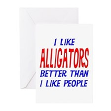 I Like Alligators Greeting Cards (Pk of 20)