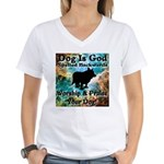 Worship & Praise Your Dog Women's V-Neck T-Shirt